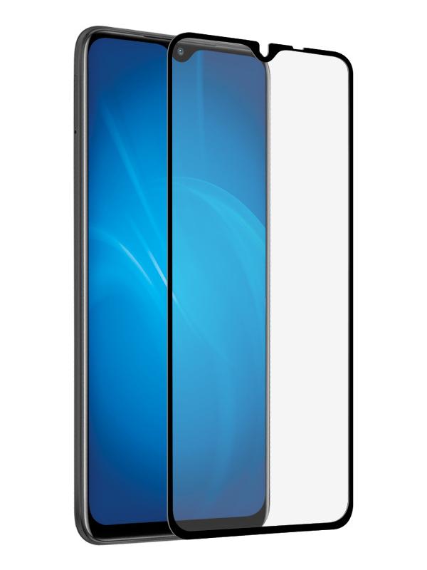 Закаленное стекло DF для Poco M3 Fullscreen Fullglue Black poColor-04