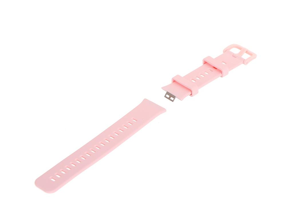 Аксессуар Ремешок DF для Huawei Watch Fit Silicone Pink hwBand-02