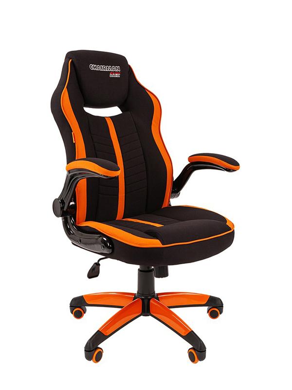 Компьютерное кресло Chairman Game 19 Black-Orange 00-07060632 + подарочный сертификат (200 руб)