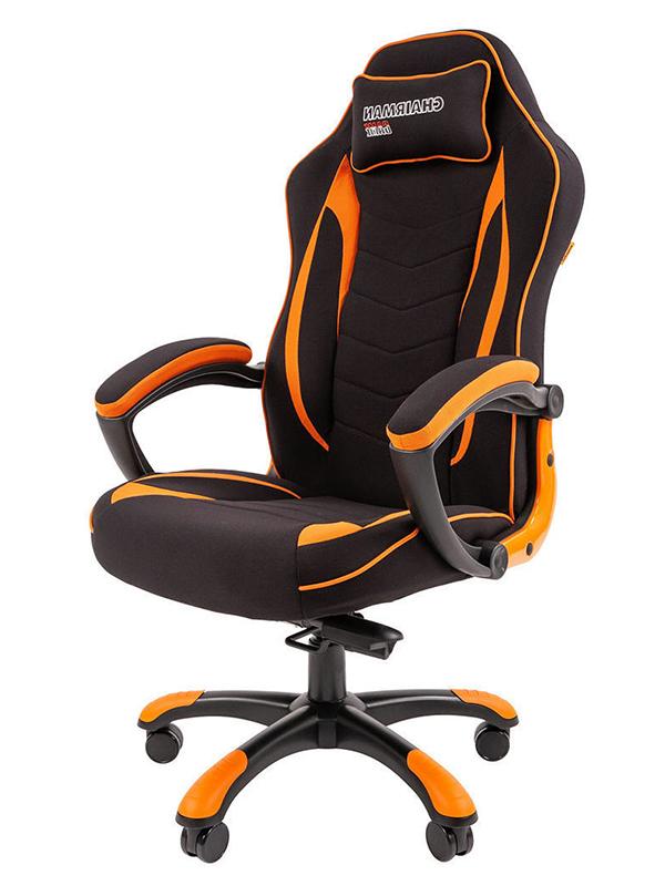 Компьютерное кресло Chairman Game 28 Black-Orange 00-07059197 + подарочный сертификат (200 руб)