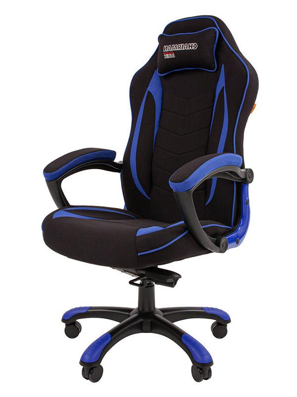 Компьютерное кресло Chairman Game 28 Black-Blue 00-07059198 + подарочный сертификат (200 руб)