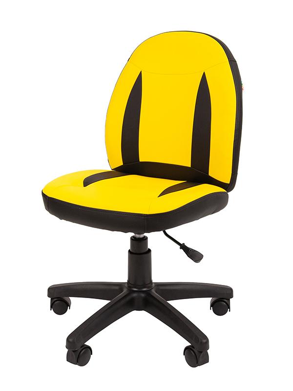 Компьютерное кресло Chairman Kids 122 Yellow-Black 00-07051683 + подарочный сертификат (200 руб)