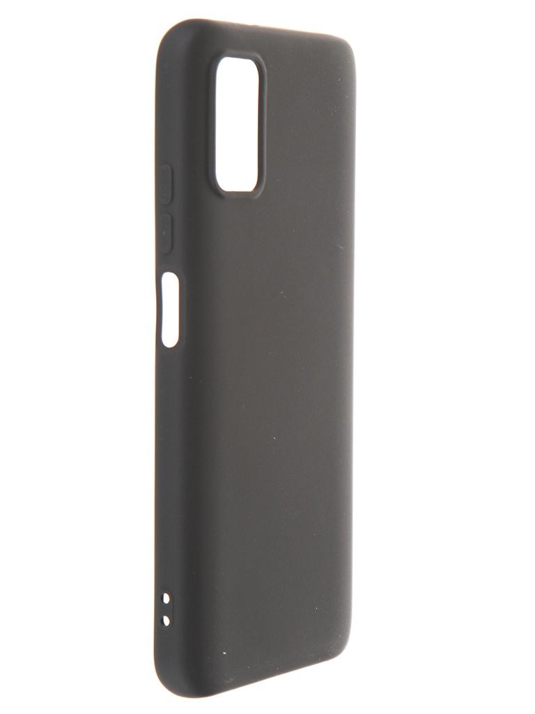 Чехол DF для Poco M3 с микрофиброй Silicone Black poOriginal-03