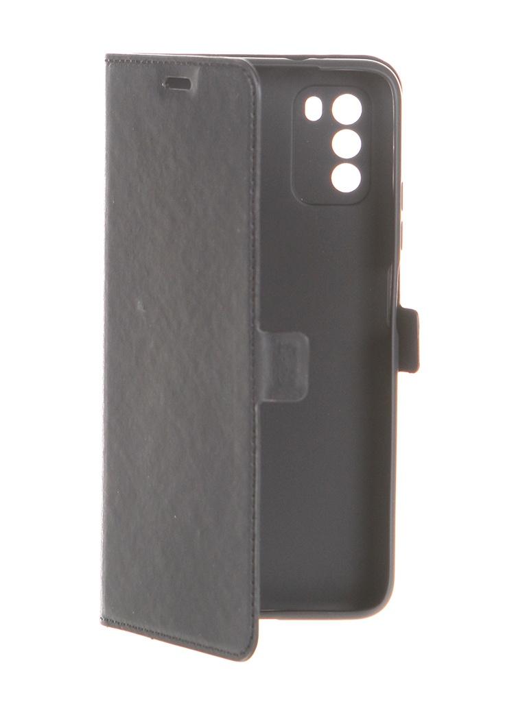Чехол DF для Poco M3 Black poFlip-03