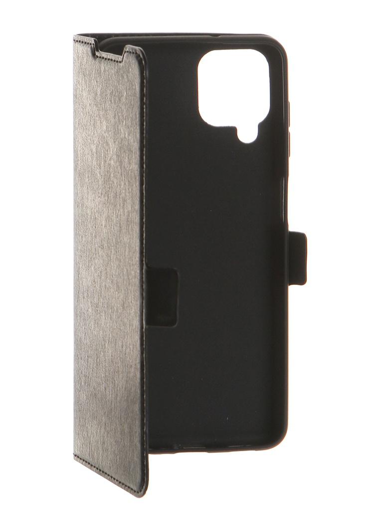Чехол DF для Samsung Galaxy A12 Black sFlip-75