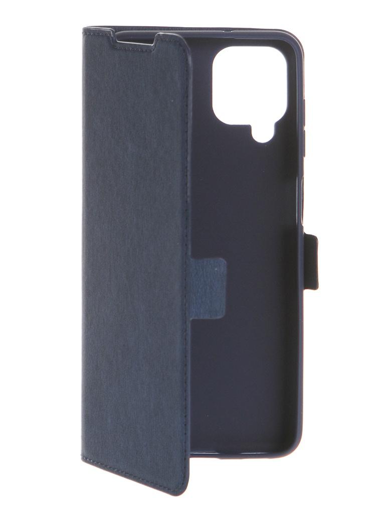 Чехол DF для Samsung Galaxy A12 Blue sFlip-75