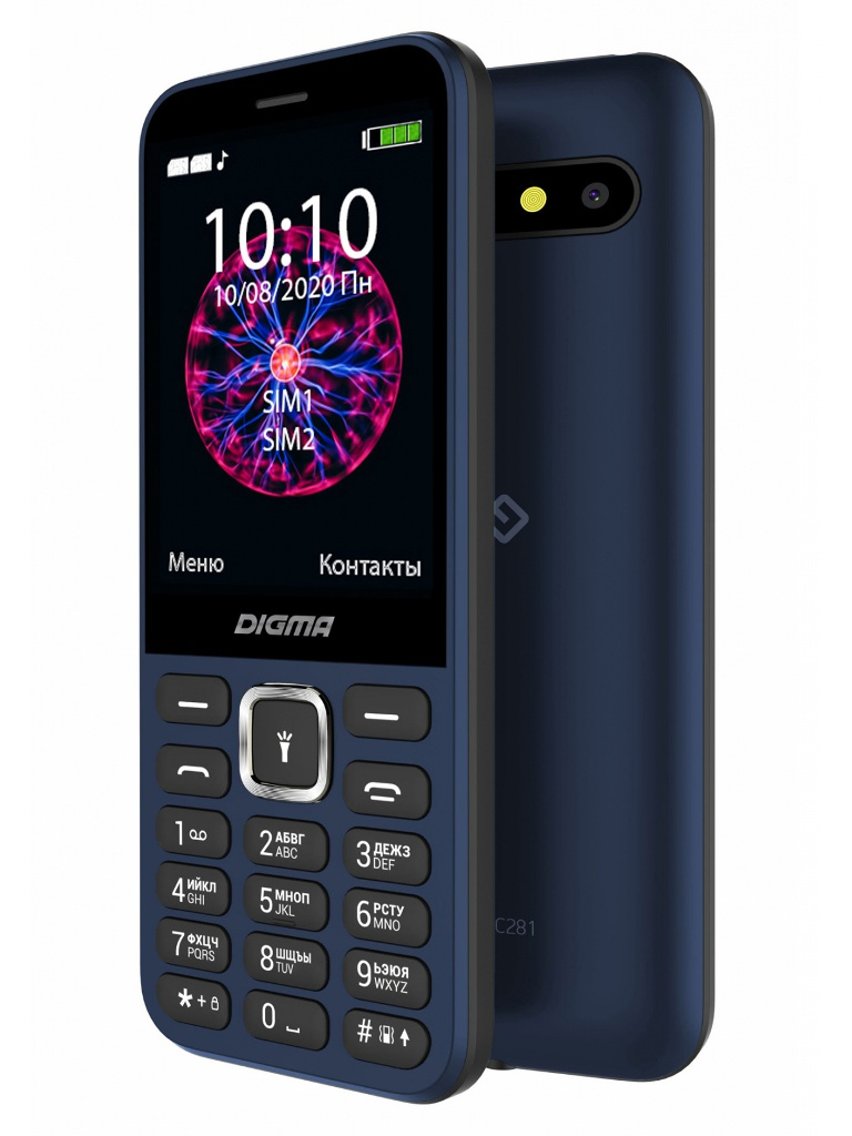 Сотовый телефон DIGMA Linx C281 Blue телефон digma linx a241 black