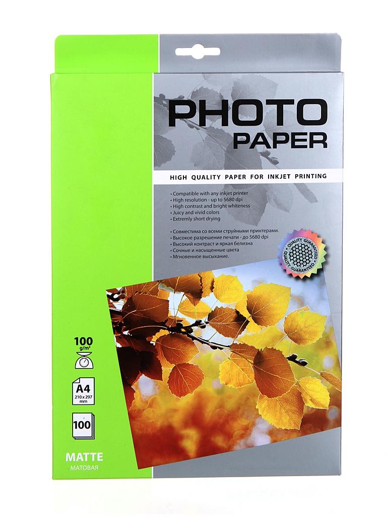 Фотобумага Cactus A4 100g/m2 матовая 50 листов CS-MA4100100