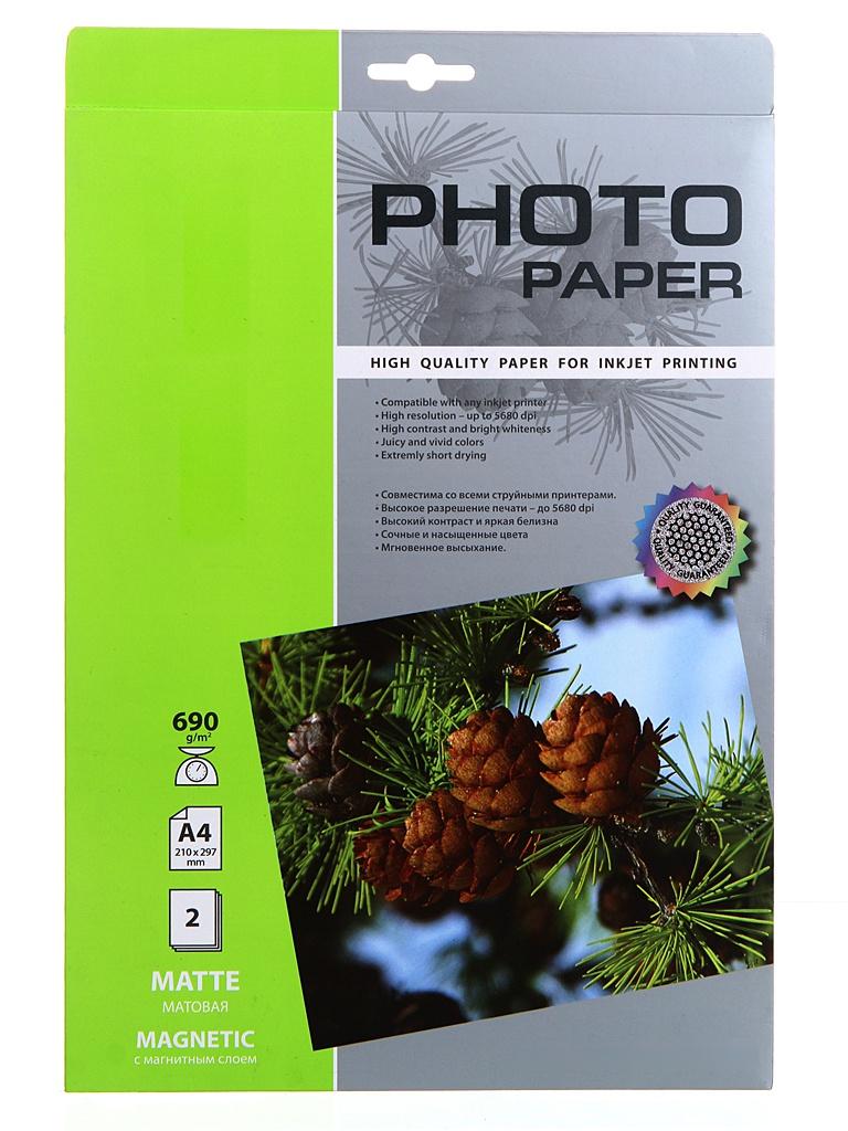 Фотобумага Cactus A4 690g/m2 матовая с магнитным слоем 2 листа CS-MMA46902