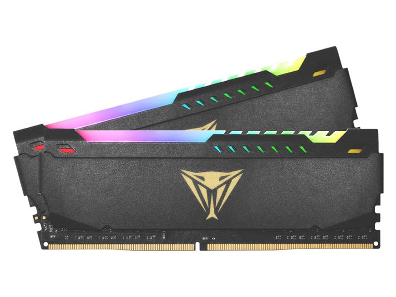 Модуль памяти Patriot Memory Viper Steel RGB DDR4 DIMM 3200MHz PC4-25600 CL18 - 16Gb Kit (2x8Gb) PVSR416G320C8K