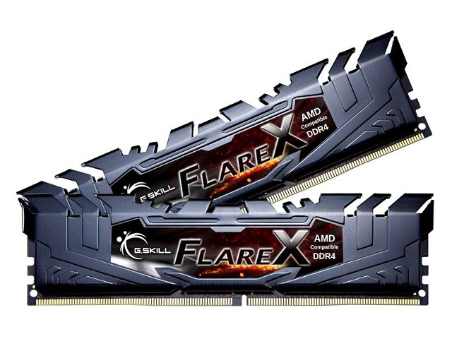 Модуль памяти G.Skill Flare X DDR4 DIMM 3200MHz PC-25600 CL14 32Gb KIT (2x16Gb) F4-3200C14D-32GFX
