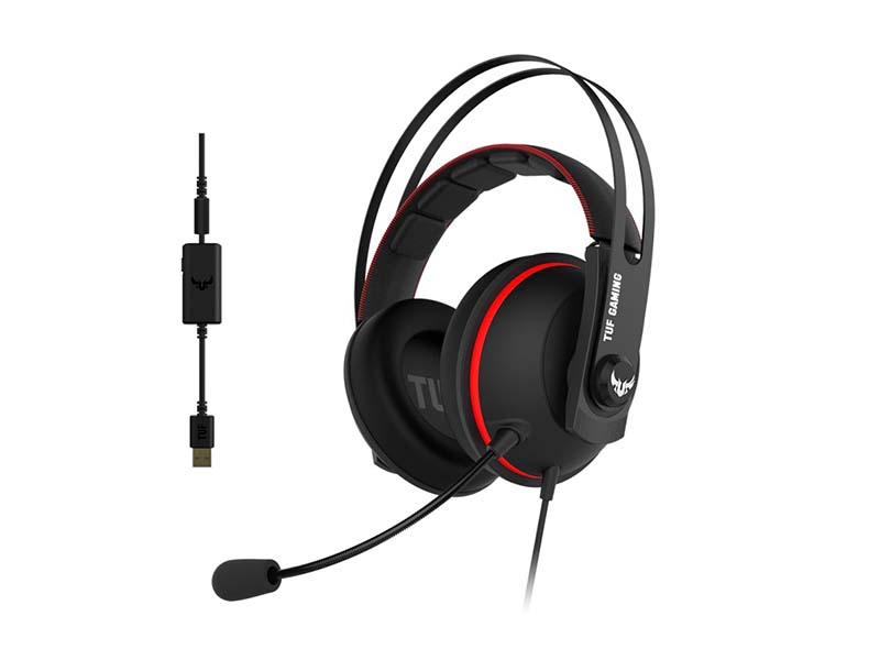 Наушники ASUS TUF Gaming H7 Black-Red 90YH01VR-B8UA00