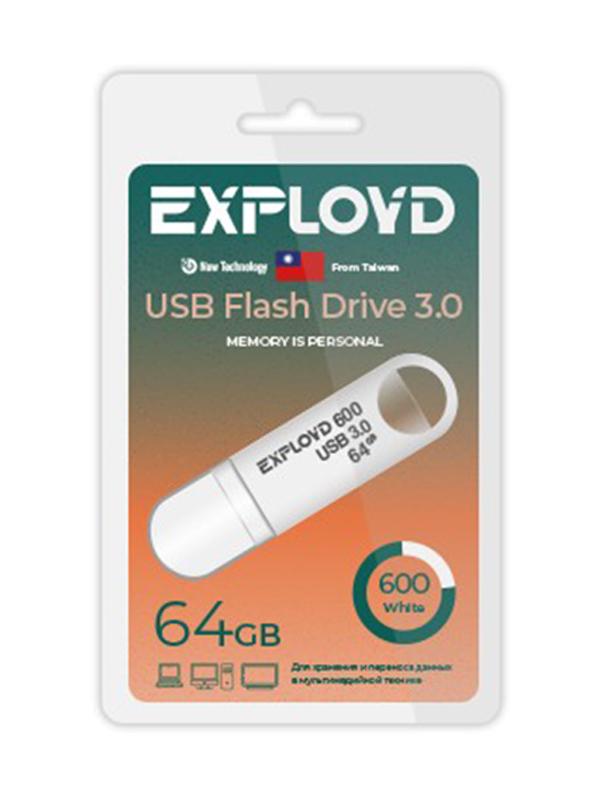 USB Flash Drive 64GB Exployd 600 EX-64GB-600-White