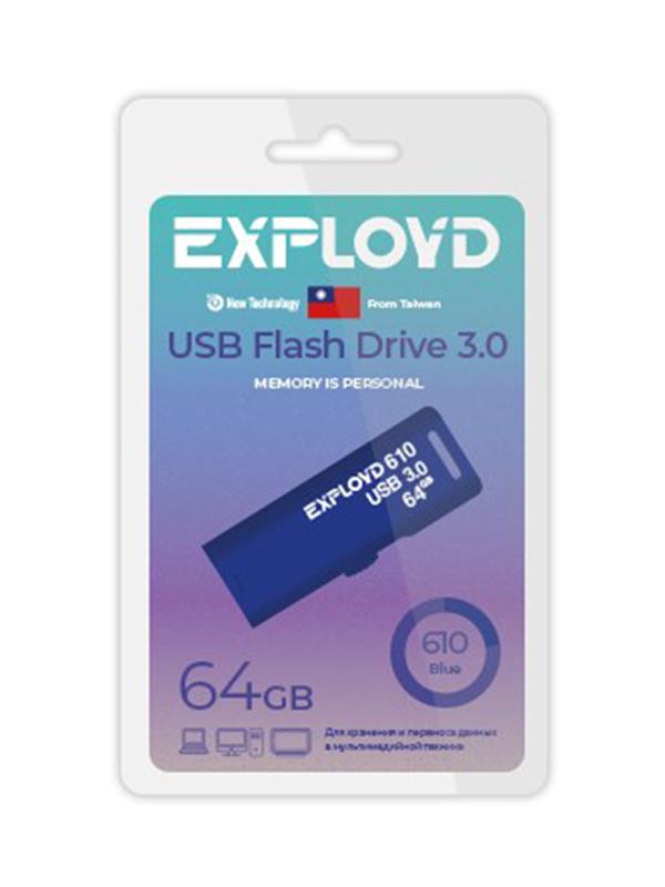 USB Flash Drive 64GB Exployd 610 EX-64GB-610-Blue