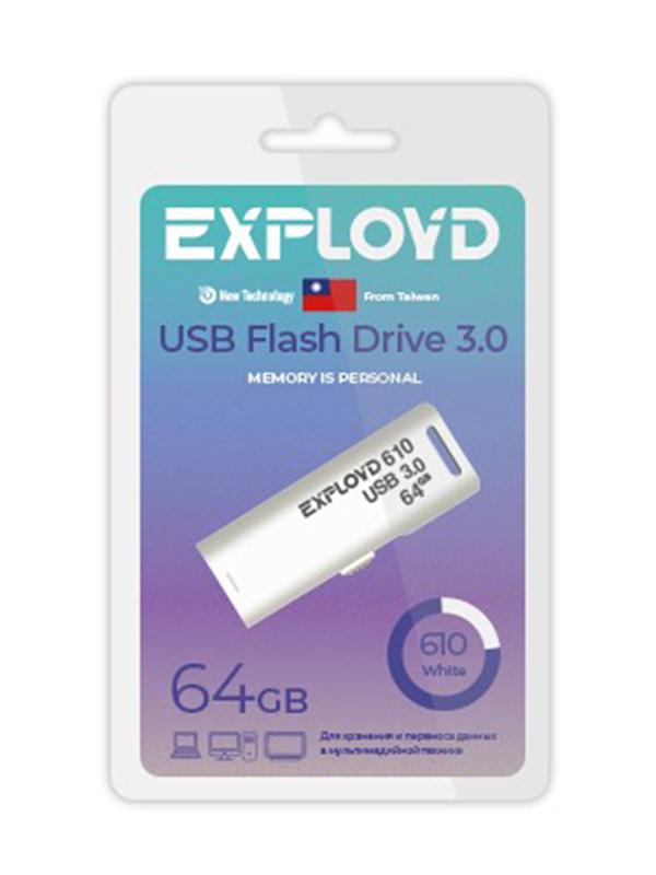 USB Flash Drive 64GB Exployd 610 EX-64GB-610-White