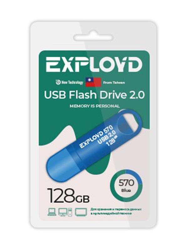 USB Flash Drive 128GB Exployd 570 EX-128GB-570-Blue usb flash drive exployd 570 32gb purple