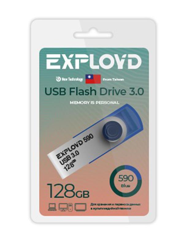 USB Flash Drive 128GB Exployd 590 EX-128GB-590-Blue