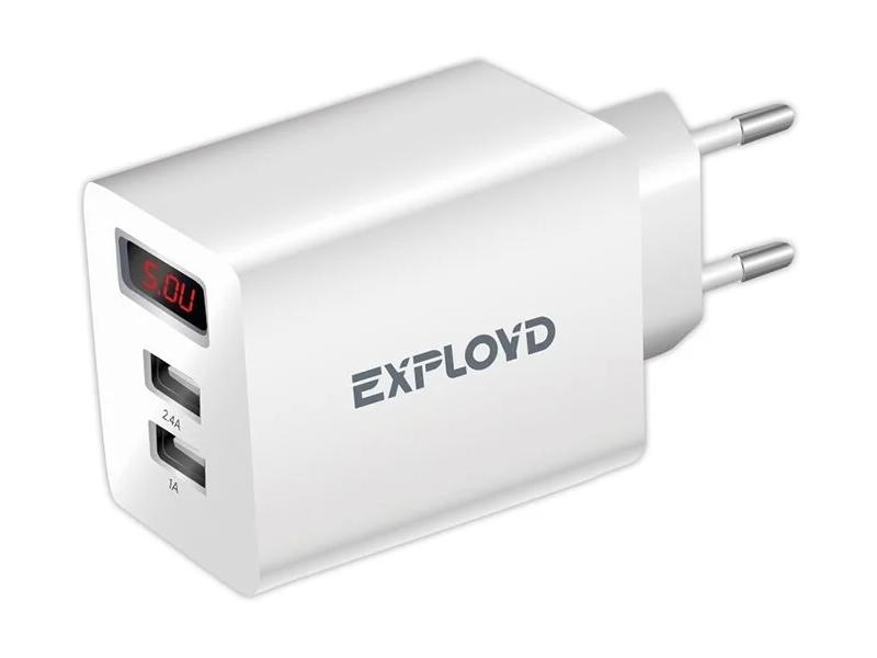 Зарядное устройство Exployd Sonder 2хUSB 3.4A EX-Z-791