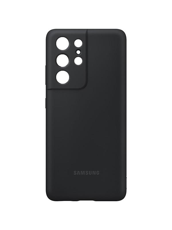 Чехол для Samsung Galaxy S21 Ultra Silicone Cover Black EF-PG998TBEGRU