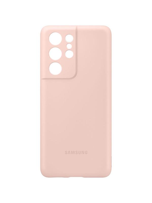 Чехол для Samsung Galaxy S21 Ultra Silicone Cover Pink EF-PG998TPEGRU