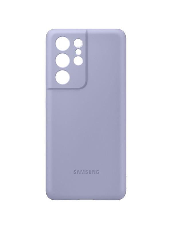 Чехол для Samsung Galaxy S21 Ultra Silicone Cover Purple EF-PG998TVEGRU