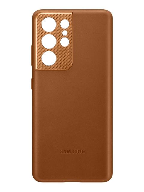 Чехол для Samsung Galaxy S21 Ultra Leather Cover Brown EF-VG998LAEGRU