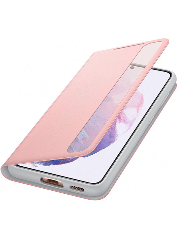 Чехол для Samsung Galaxy S21 Smart Clear View Cover Pink EF-ZG991CPEGRU