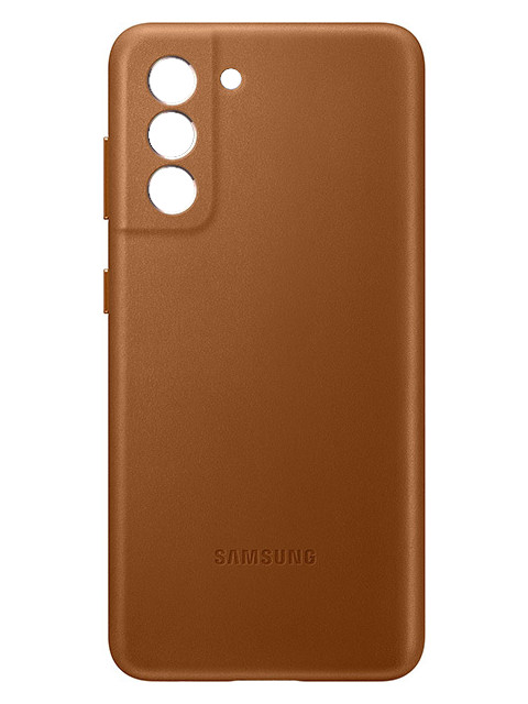 Чехол для Samsung Galaxy S21 Leather Cover Brown EF-VG991LAEGRU