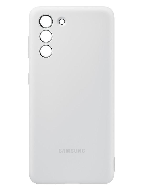 Чехол для Samsung Galaxy S21 Silicone Cover Light Gray EF-PG991TJEGRU