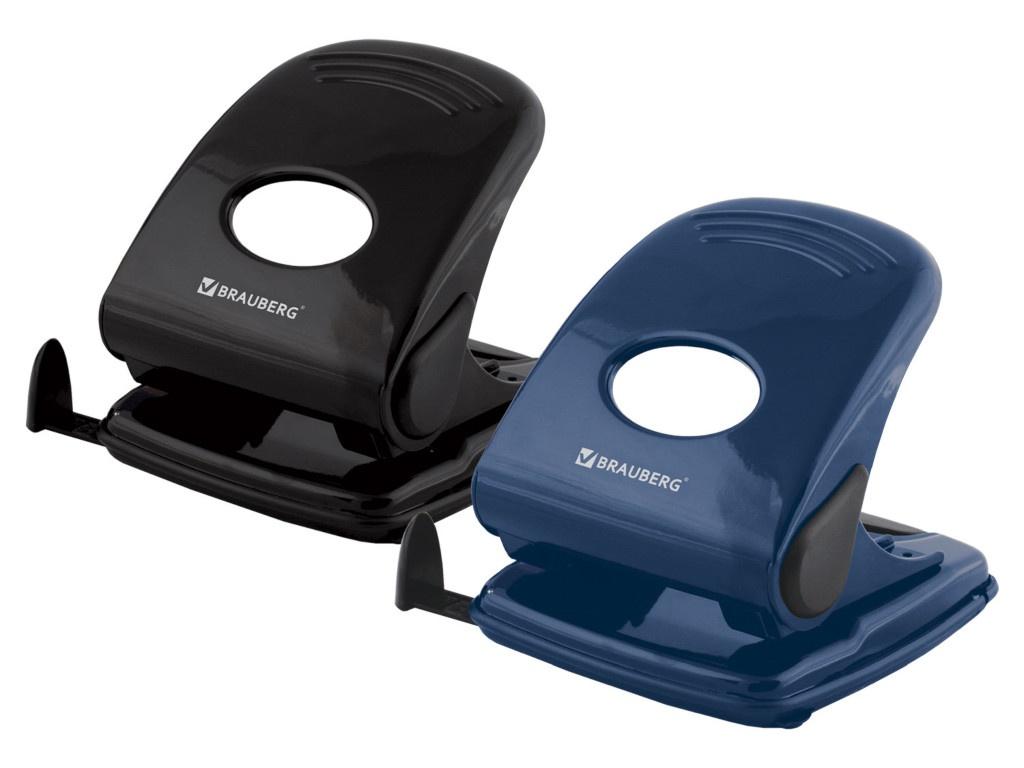 Фото - Дырокол Brauberg Style до 40 листов Blue-Black 220947 дырокол brauberg original до 25 листов blue 222543
