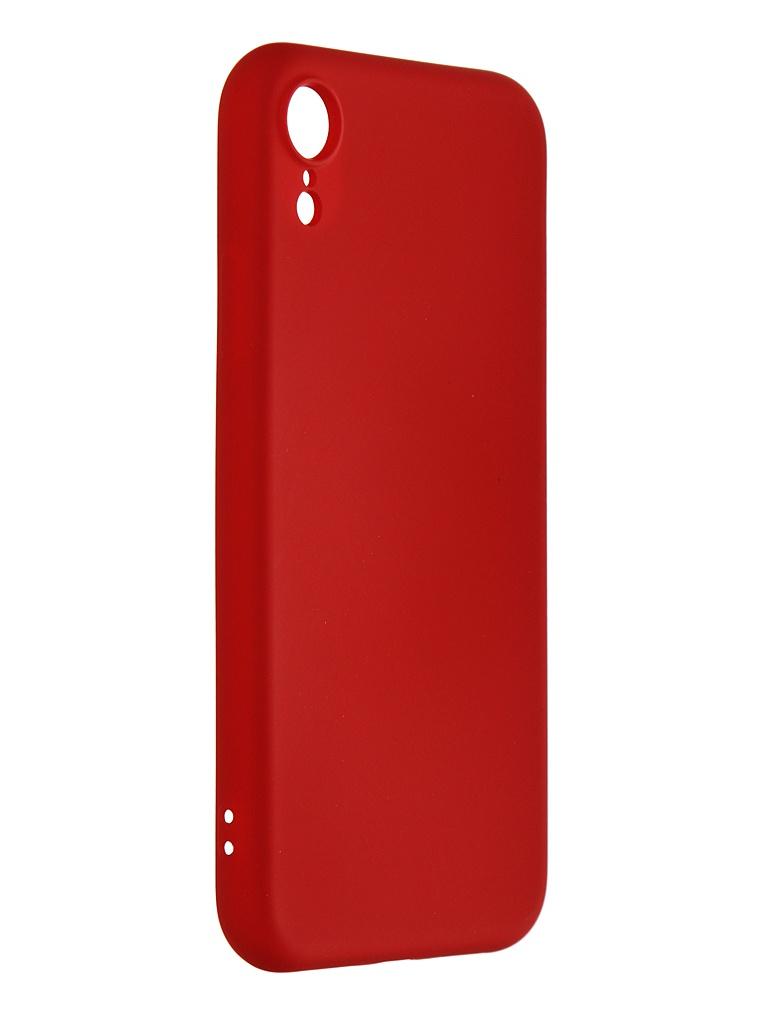 Чехол mObility для APPLE iPhone XR Soft Touch Red УТ000020643