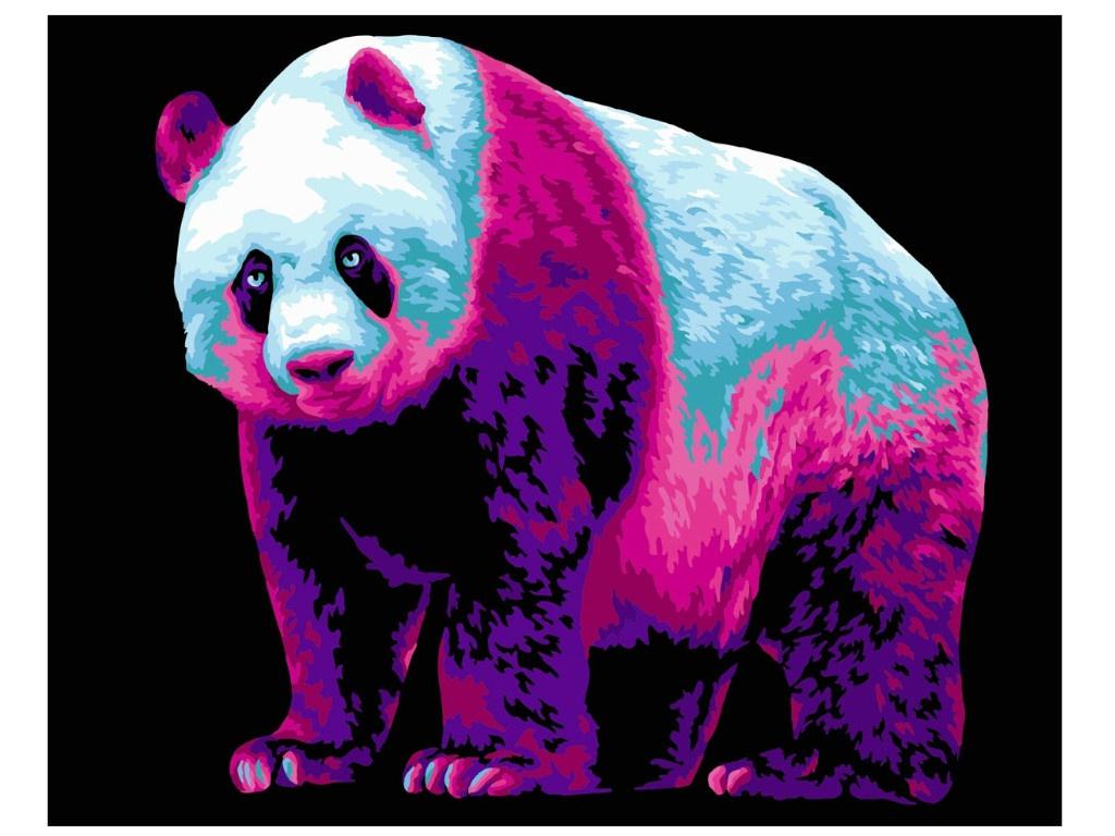 Картина по номерам Русская живопись Неоновая панда 40x50cm H137