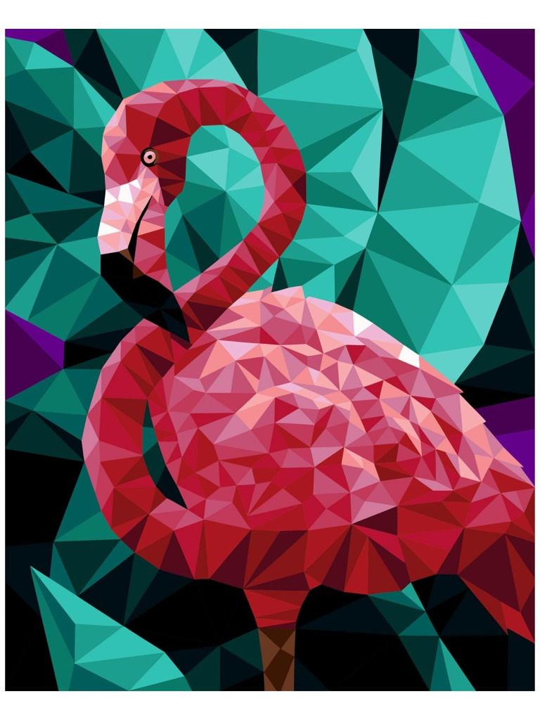 Картина по номерам Русская живопись Фламинго 40x50cm P005