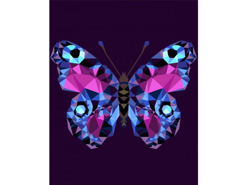 Картина по номерам Русская живопись Бабочка 40x50cm P003