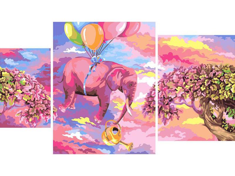 Картина по номерам Русская живопись Розовый Слон 40x50cm I019
