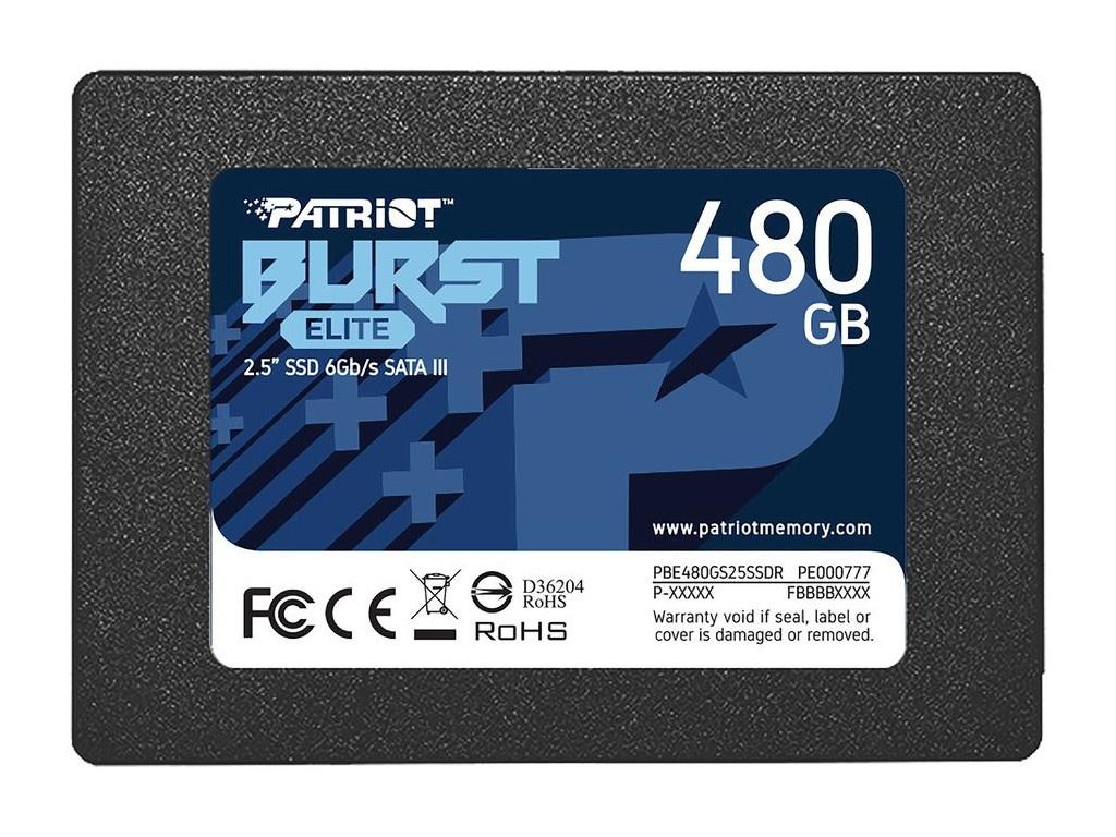 Твердотельный накопитель Patriot Memory Burst Elite 480Gb PBE480GS25SSDR