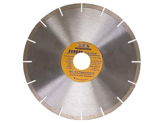 Диск Sparta Europa Standard отрезной алмазный сегментный 230x22.2mm 73171