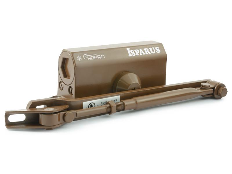 Доводчик дверной Нора-М ISP 410 15-60кг морозостойкий Brown 17200.