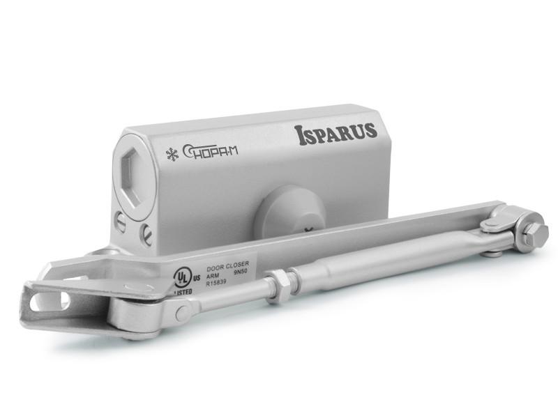 Доводчик дверной Нора-М ISP 410 15-60кг морозостойкий Grey 17198.