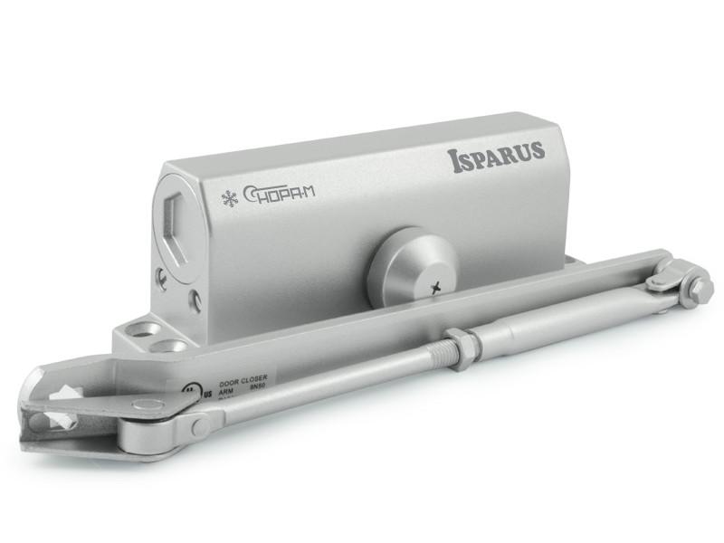 Доводчик дверной Нора-М ISP 440 80-140кг морозостойкий Silver 17202.