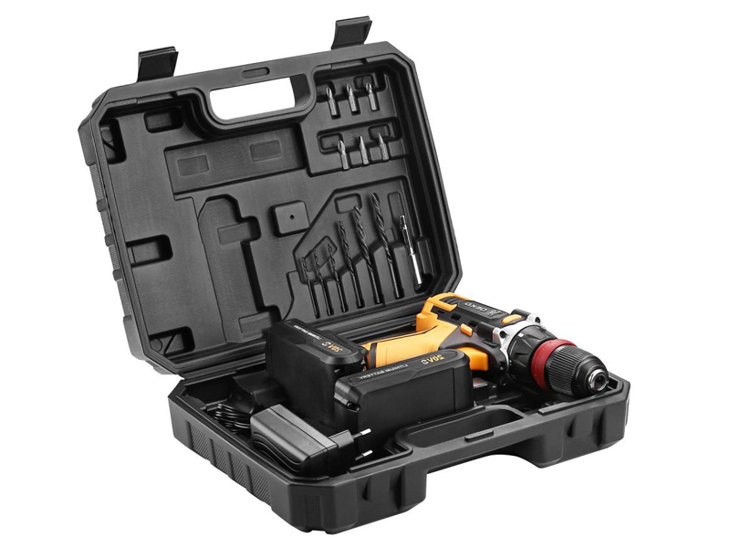 Электроинструмент Deko DKCD20FU-Li Set 3 со съемным патроном + оснастка 13 предметов 063-4177