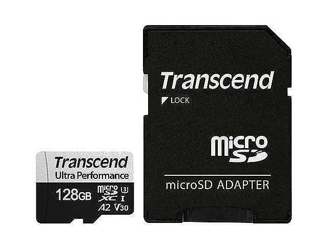 Фото - Карта памяти 128Gb - Transcend MicroSDXC 340S Class 10 UHS-I U3 V30 A2 TS128GUSD340S с адаптером SD карта памяти kingston canvas go plus microsdxc uhs i u3 v30 a2 128gb с адаптером