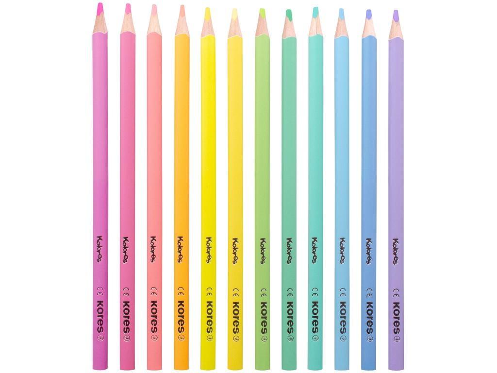 Карандаши цветные Kores Kolores Pastel 12 цветов 1311705