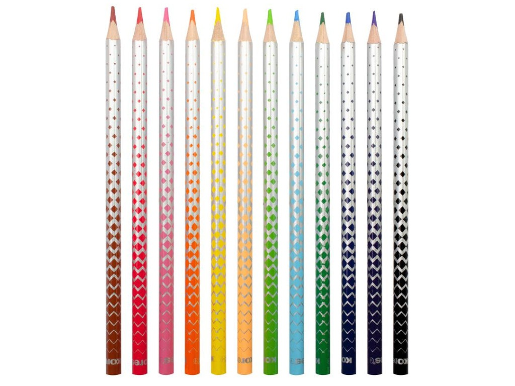 Карандаши цветные Kores Kolores Magic 12 цветов 1311706