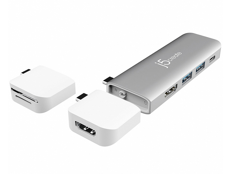 Док-станция j5create Ultradrive Kit USB Type-C - USB-C PD 3.0/USB-C 3.1/HDMI/USB-A 3.1x2/4K HDMI SD/microSD JCD387