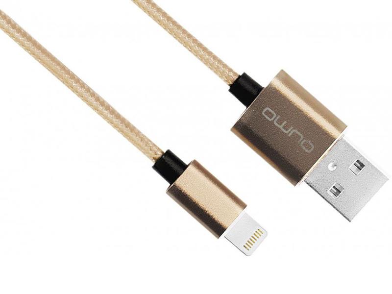 Фото - Аксессуар Qumo USB - Lightning MFI 1.0m Gold 20719 аксессуар qumo usb microusb 1 8m white 24429