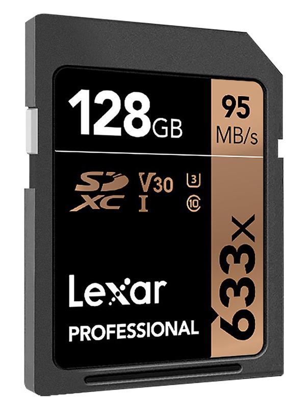 Карта памяти 128Gb - Lexar Professional SDXC UHS-I LSD128CB633