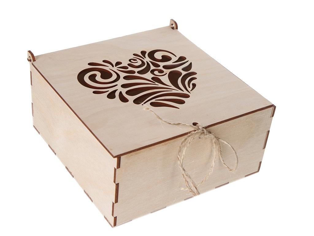 Коробка Wonder Wood Сердце резное WW82