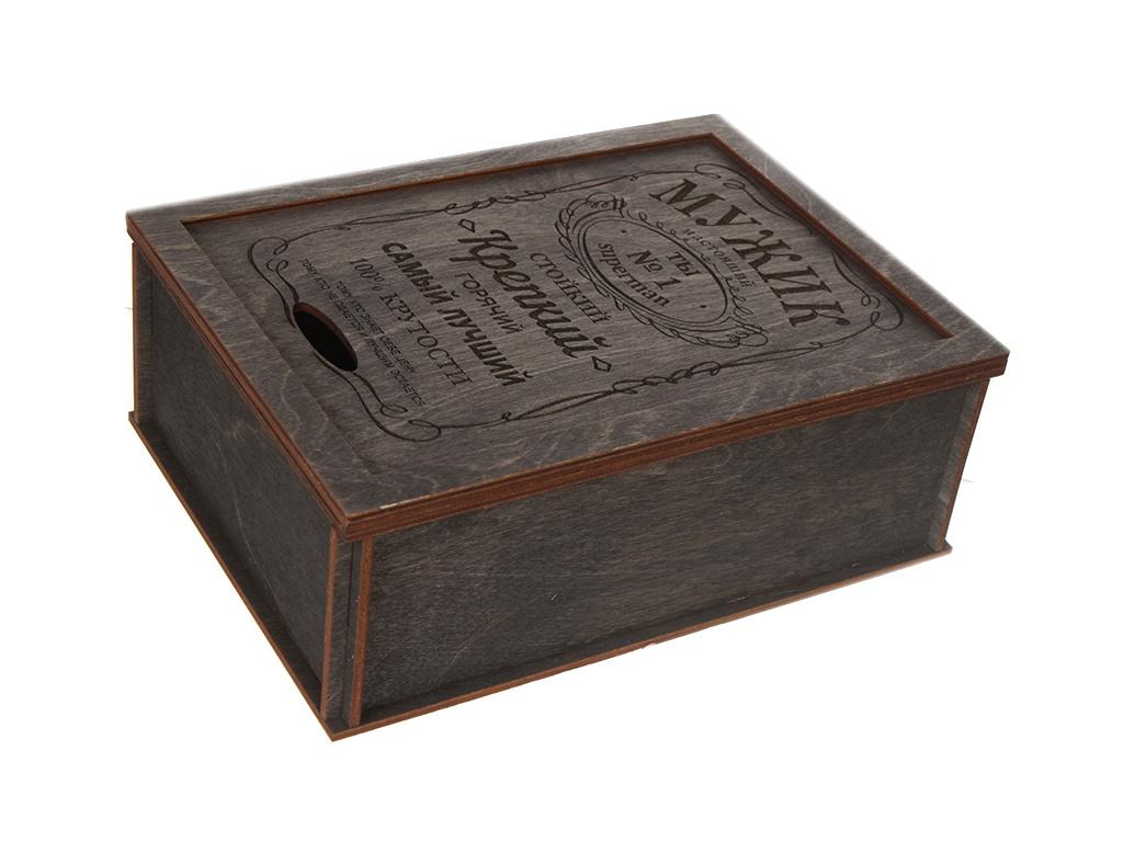 Коробка подарочная Wonder Wood Мужик Black WWGFBXNM/black