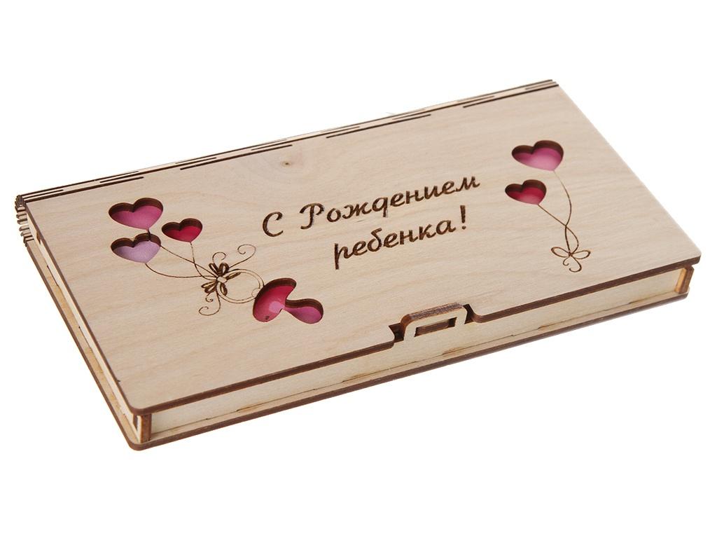 Конверт подарочный Wonder Wood С рождением ребенка WW08